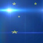 Dark Blue Background, Gold Stars, Lens Flare - Free image