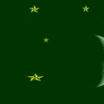 Dark Green Background, Gold Stars, Crescent Moon
