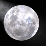 Full Moon with Lens Flare Dark Background
