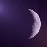Crescent Moon Purple Background