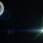 Lens Flare with Moon, Free Background Image