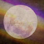 Purple rainbow with Moon Free Background