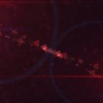 Dark Red Texture Background image with Lens Flares